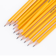 China supplier black nature wooden thin pencils
