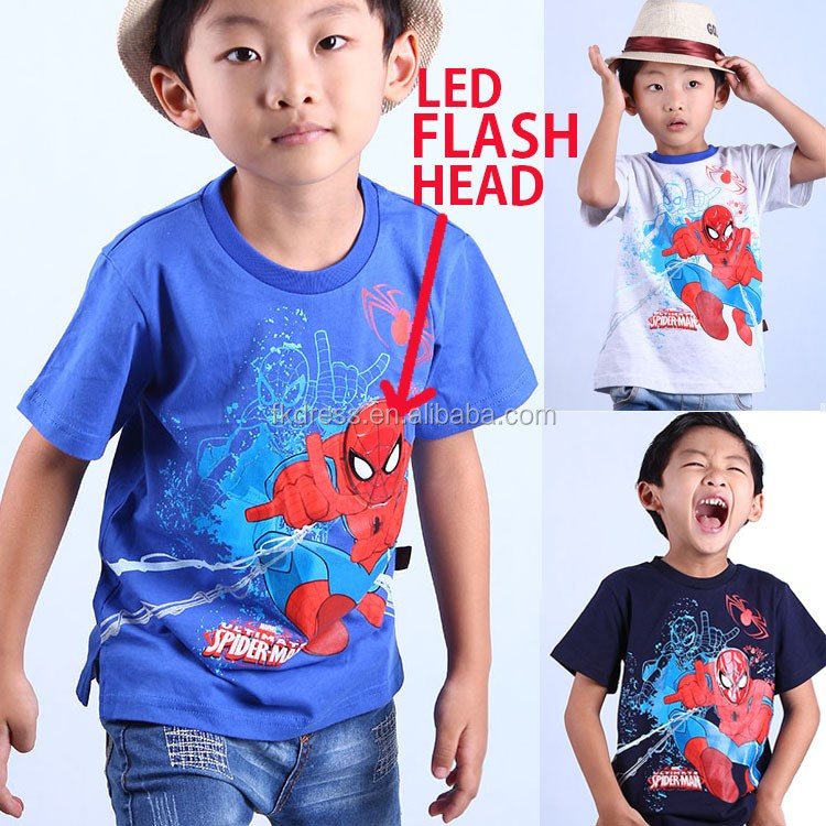 Kid Light T-shirt Voice Activated Led Light Up Flashing Music T-shirt