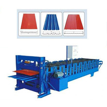 Tianjin YS The high precision Colourful Roof Tile Machine Double steel Metal Roof Tile Roll Forming Making Machine