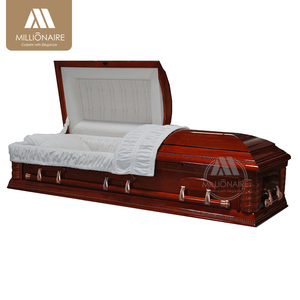 Hot selling cheap solid wood imported casket with factory price