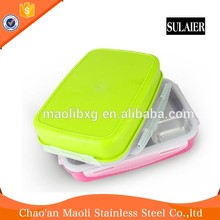 Reliable Reputation Stackable Stainless Steel Two-Layer Two-Tier Lunch Box