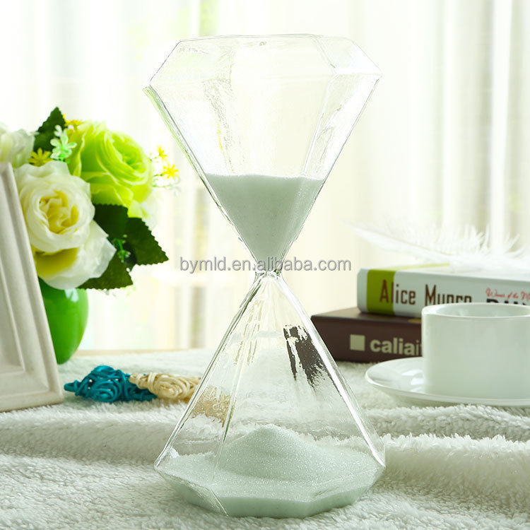 Sand Timer Color Timer And Logo Customized Diamond Shaped Glass Timer