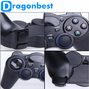 2017 Hot sales 2.4G RF Wireless Gamepad pc double wireless gamepad With the Best Quality Joystick & game control