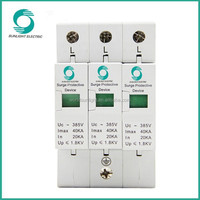 Class C,20KA-40KA,Uc 385V,spd,power surge protector,transient voltage surge suppressor