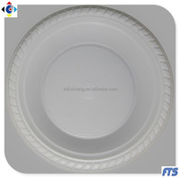 Disposable PS Plastic Plates Food Dishes Snack Tray