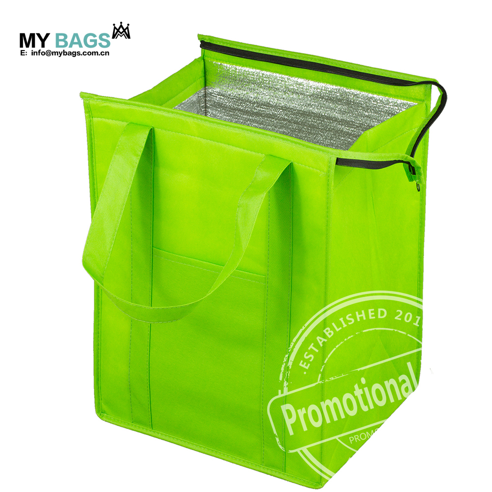 Maimeng Customized logo brand printing Professional delivery insulated cooler bag keep food hot and cold