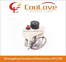 universal gas heater control valve for cooking appliances