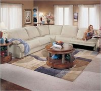 The Berkline 40083 Sectional Group provides versatility and comfort in fashionable design with deeply padded seats and back, and
