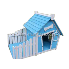 Wood kennel and wooden dog house