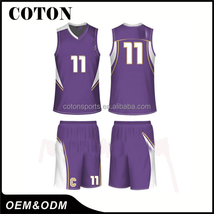 Sublimation Reversible Basketball Uniforms With Custom Designs