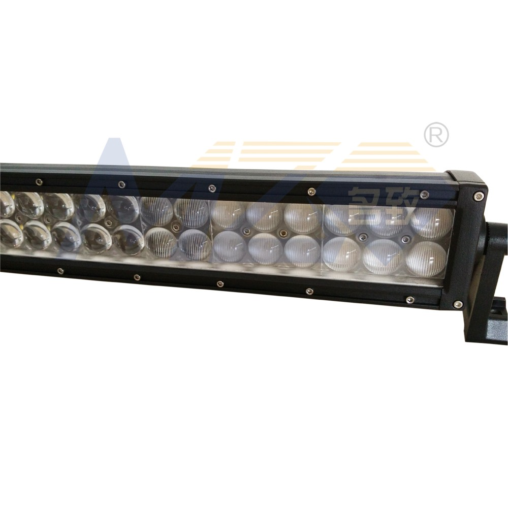 Curved LED Light bar 50'' 288W 300W, MZ 09A 4D SPOT 5D FLOOD light beam, 3W Philip Chips die cast aluminum housing LED off road