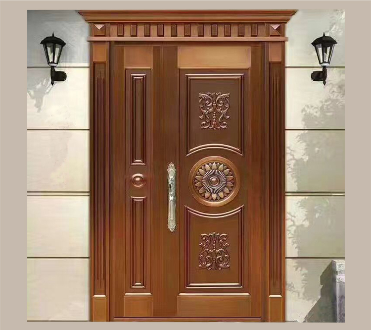 Sus304 residential safety entry stainless steel door for Front double door designs indian houses
