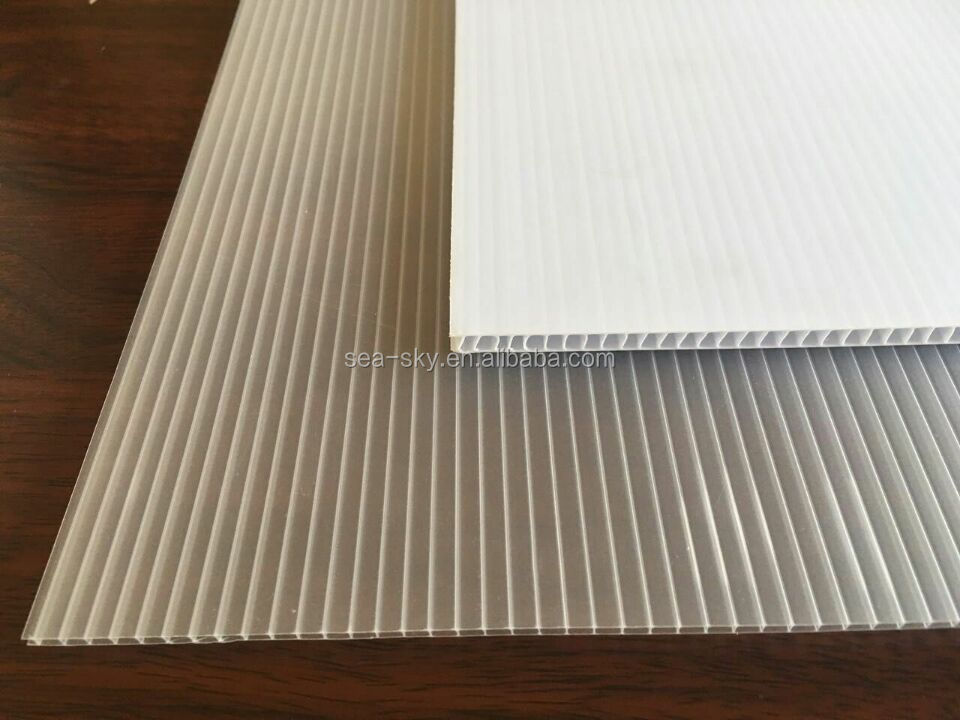 white color corex coroplast material sheet for the advertising