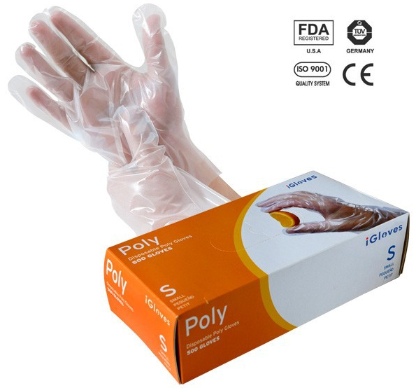 HDPE/LDPE Disposable Food Grade Hand Gloves for Cleaning