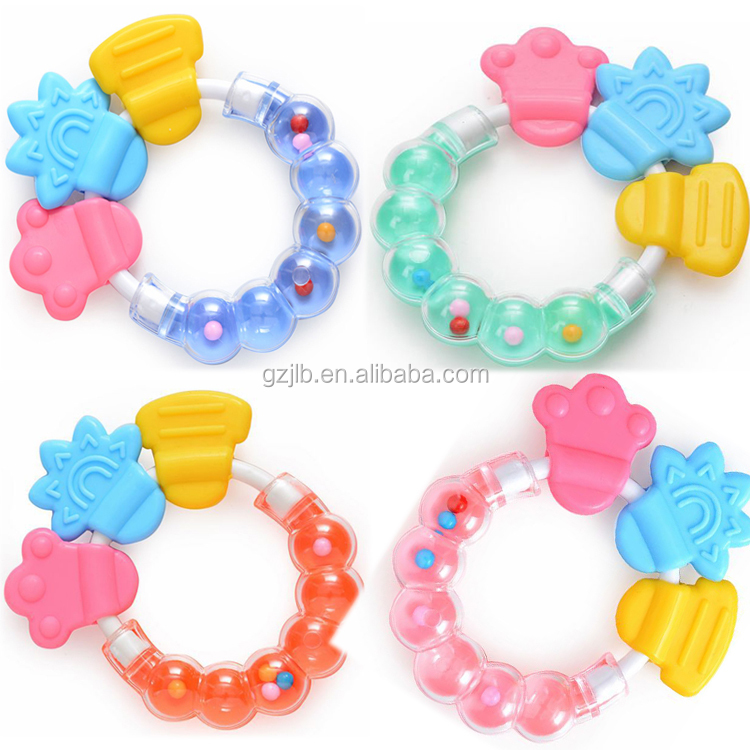 infant teether manufacturers EVA candy rattles water ring silicone baby teether toys