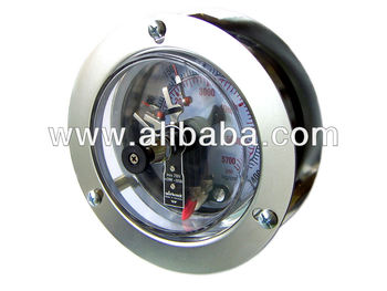 Electrical Contact Pressure Gauges Flat Panel Mounting