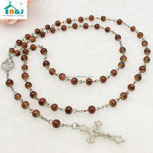 Catholic Glass beads rosary women men choker necklace with different colors