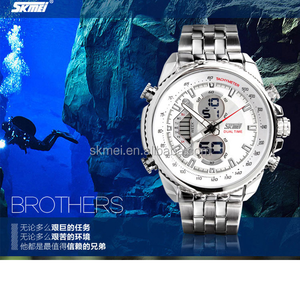 new arrival clock hands man analog digital wrist watch with 3 atm water resistant watch