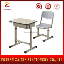 Hot selling classroom chair and desk attached School furniture chairs and tables for student