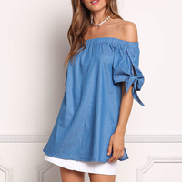 New Arrival Hot Selling Sexy Fashion Summer Off Shoulder Ladies Dress
