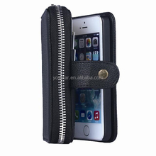 Case for iphone 5 5s, 2 in 1 wallet bag case for iphone 5, booklet PU leather case