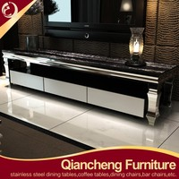 European style luxury stainless steel tv stand leg 874#