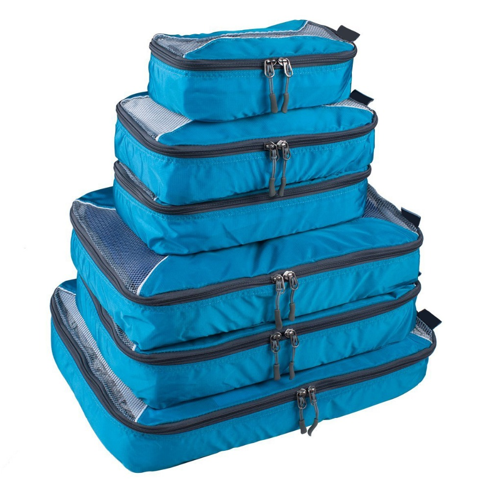 <strong>Travel</strong> Packing Cubes Set 6 Luggage Packing Organizers Packing Cubes Value Set for <strong>Travel</strong> 6pcs