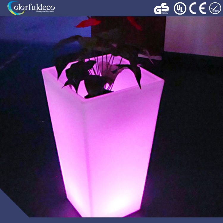 2016 high quality well sale led illuminate flower glowing vase light for garden and event