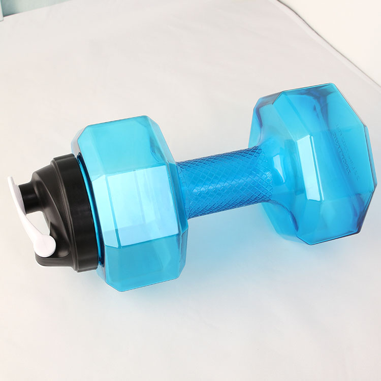 Promotional Customized Logo 2.2L Plastic Dumbbell Shape Sport Water Bottle