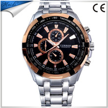CURREN Men's Top Brand Luxury Fashion&Casual Full Steel Sports Men Watch Relogio Masculino Mens Business Quartz Factory BW-3