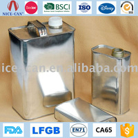 Gasonline Olive Oil Tin Container Customize Metal Can Container Factory Price Rectangular Petrol Gas Cans Wholesale