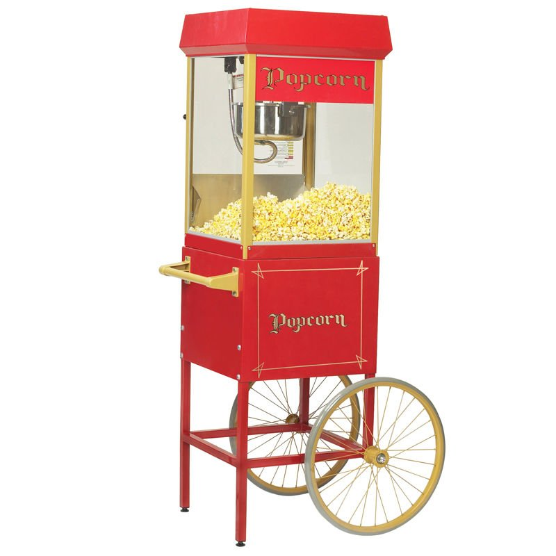 4 oz. Fun Pop Popcorn Machine with Cart - Gold Medal