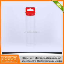 plastic clear packaging tube hexagon package