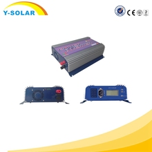 Y-SOLAR 1000W 45v-90vdc on grid tie LCD inverter 110vac 220vac optional Solar Panel System YS-1000G-LCD Stackable