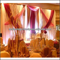 100% polyester pipe and drape fabric curtain