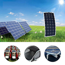 Flexible 100W Pv Solar Panel for Car RV Boat Cabin Ten OEM support