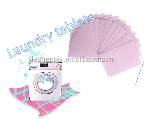 Guangzhou Laundry tablets washing paper soap piece Laundry detergent with new formulation