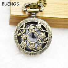 Cheap Retro Elegant Hollow Pendent Chains Pocket Watch