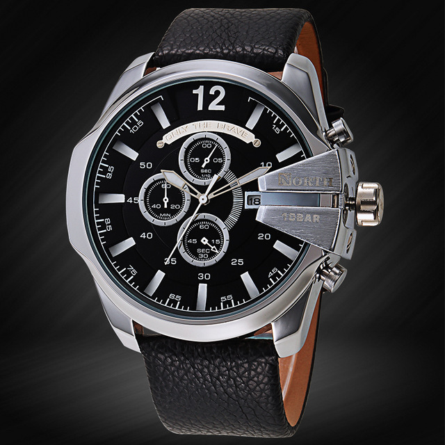 Relojes Hombre Famous Brand Men Military Watches Men's Whatch Leather Waterproof Clock Male Quartz Wrist Watch Tag Sport