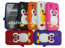 Cute Penguin 3D Silicon Protective Case For SamSung S5830 Galaxy Ace