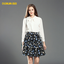 2017 hot selling women short print skirt