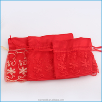 Mini personalized drawstring candy organza bag