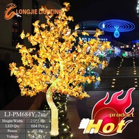 684 led 2m high christmas decoration tree with maple leaves