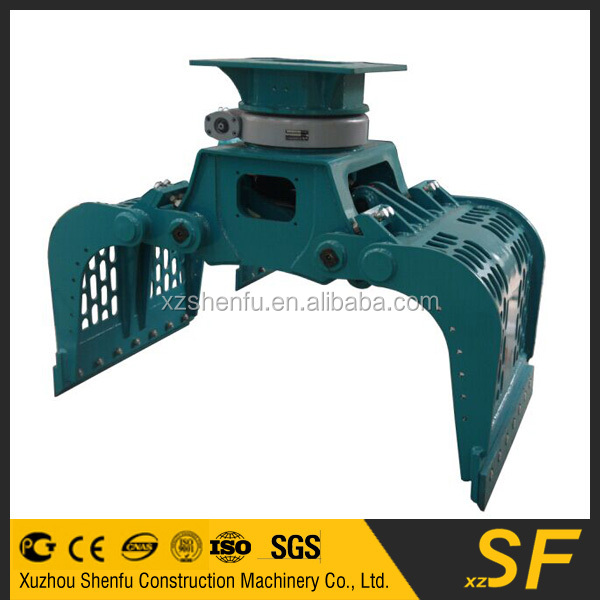 Promotion Price Full 360 Degree Hydraulic Rotation Excavator Waste Handling Grab