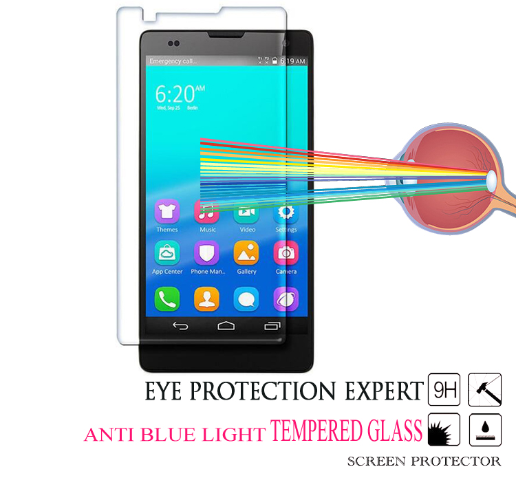 Manufacturer Wholesale Anti Blue Ray Mobile Tempered Glass Screen Protector for Huawei Honor 6 7