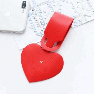 Personalized Love Heart Shape Wedding Favor Luggage Tags