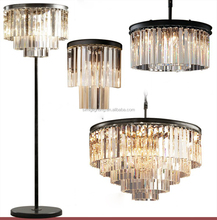 American Iron Villa modern luxury k9 crystal chandelier with Combination lights