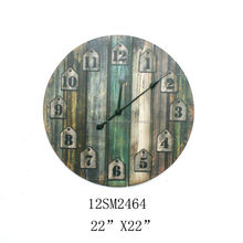 2014 Hottest Texture restoring ancient ways metal wall decor clock