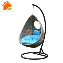 150kg weight bearing single seat outdoor rattan patio swing chair