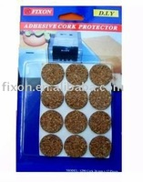 Furniture adhesive cork pad